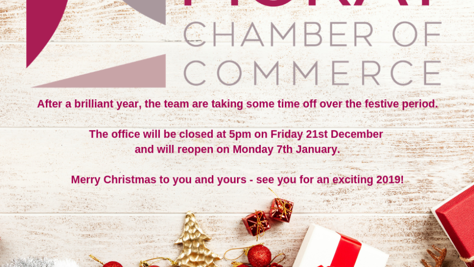 Moray Chamber's Christmas Hours