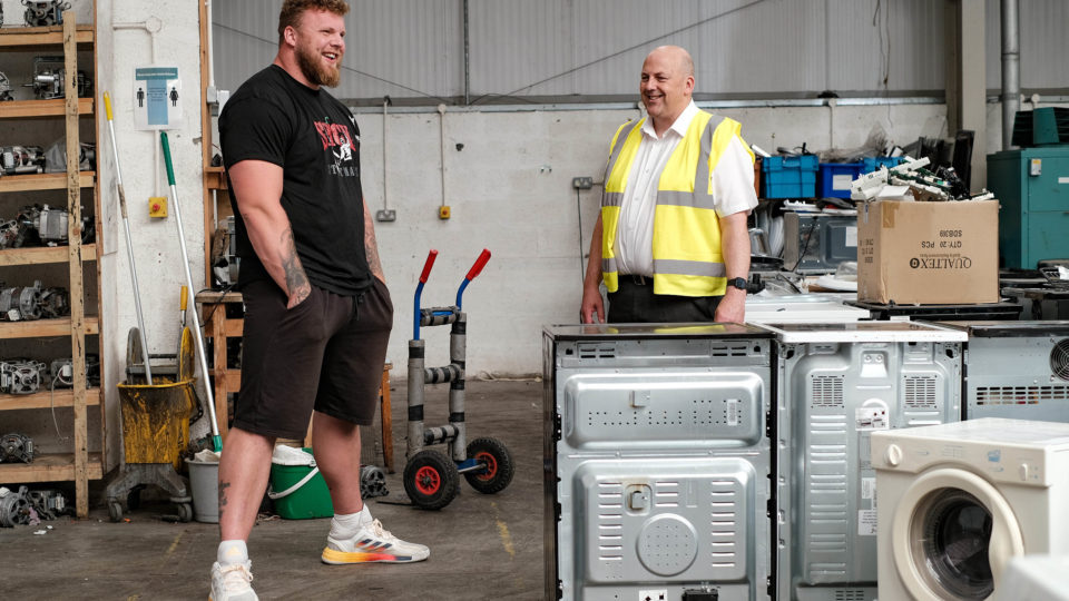 ILM Highland | World's Strongest Man helps ILM Highland celebrate 2,054 tonnes of electrical recycling in last 12 months