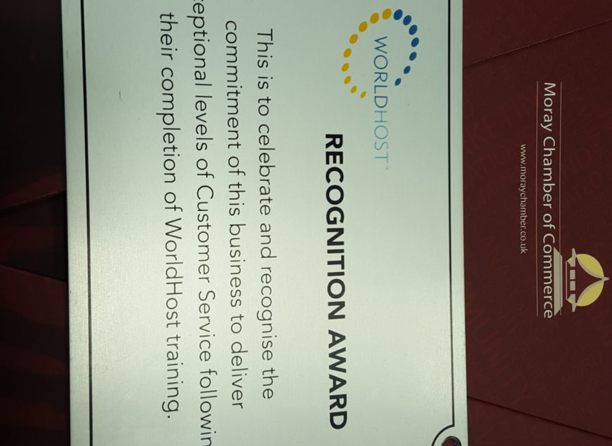Moray Chamber is a WorldHost Accredited Business