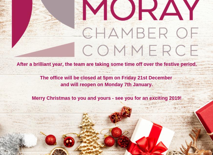 Moray Chamber's Christmas Hours