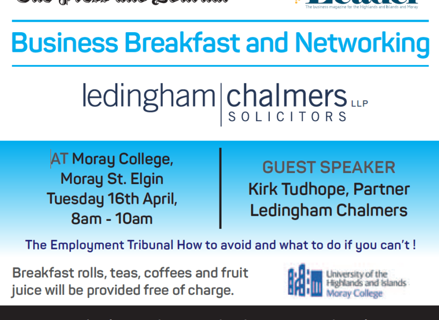 P&J present a FREE Business Breakfast with Ledingham Chalmers