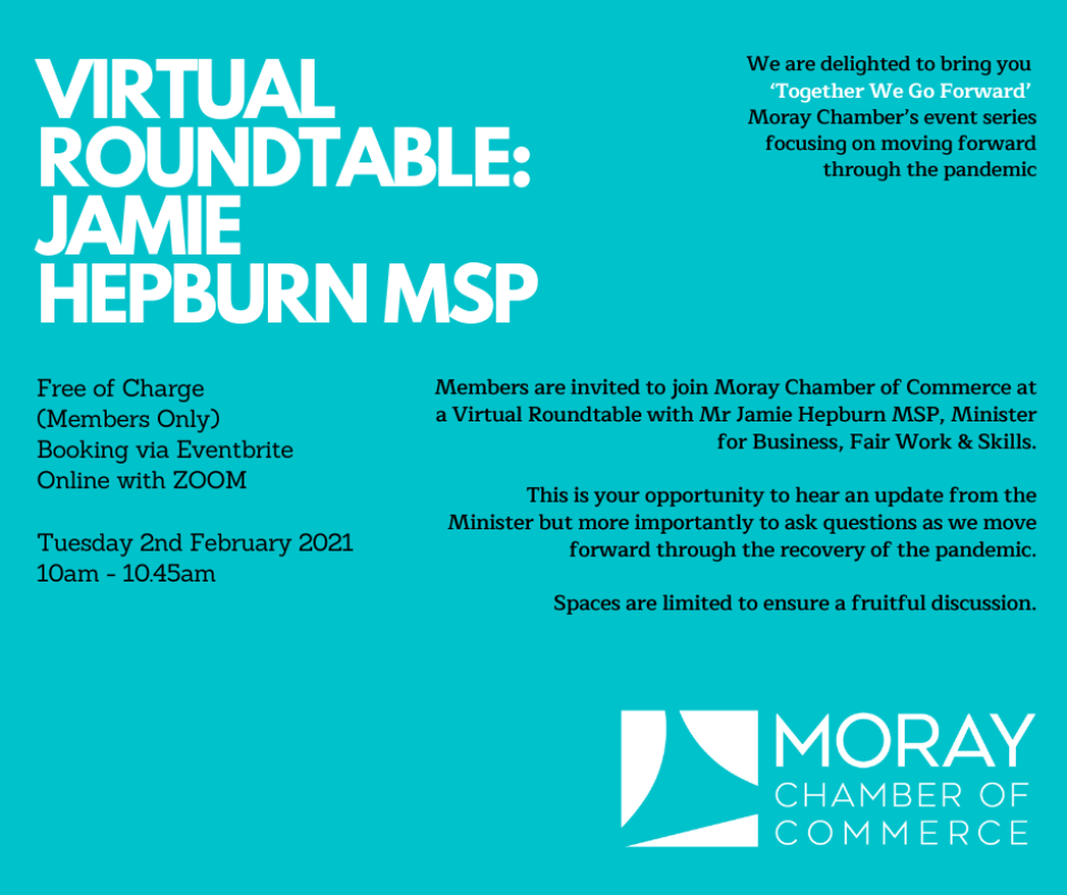 VIRTUAL ROUNDTABLE WITH JAMIE HEPBURN MSP