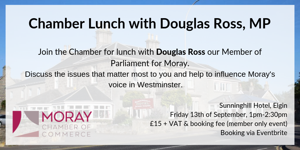 Moray Chamber of Commerce Business Lunch Douglas Ross MP