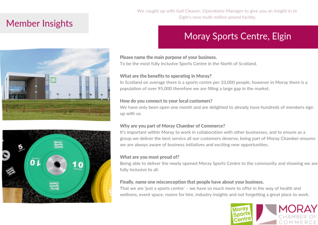 Moray Sports Centre Member Insight